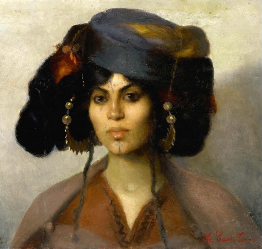 Marie Caire-Tonoir Femme de Biskra • 1898 [Musée du Quai Branly, ©Musée de la Vallée à Barcelonnette