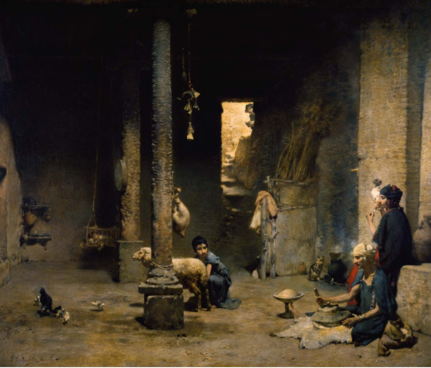 Gustave Guillaumet Habitation Saharienne-cercle de Biskra-Algérie • 1882 [ Chrysler Museum, © Chrysler Museum of Art, Norfolk, Virginia]