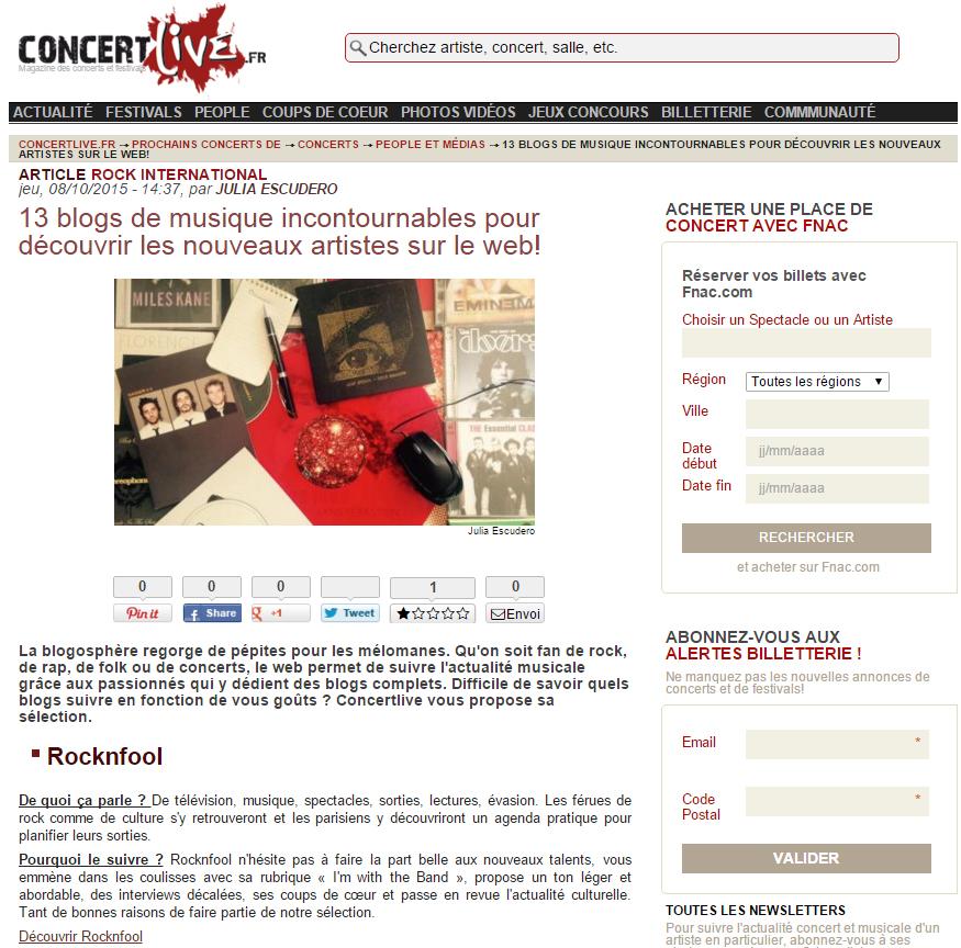 blogs incontournables concertlive