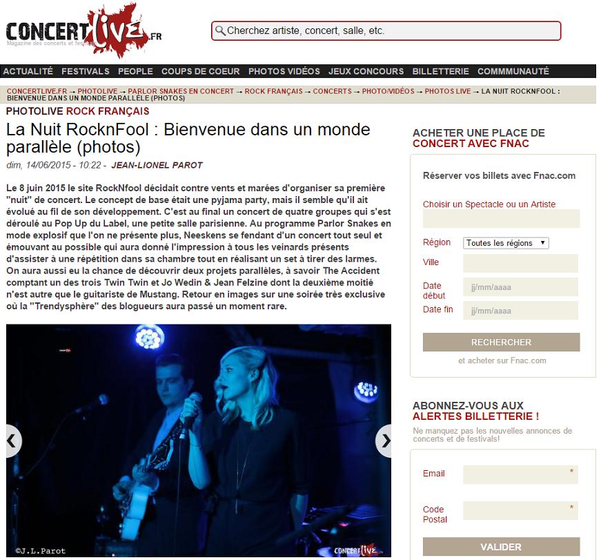 Nuit RockNfool - Concertlive